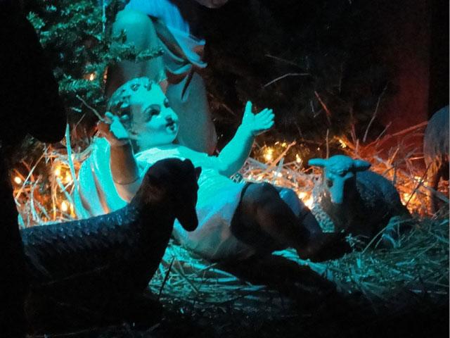 The Infant Jesus in the manger scene